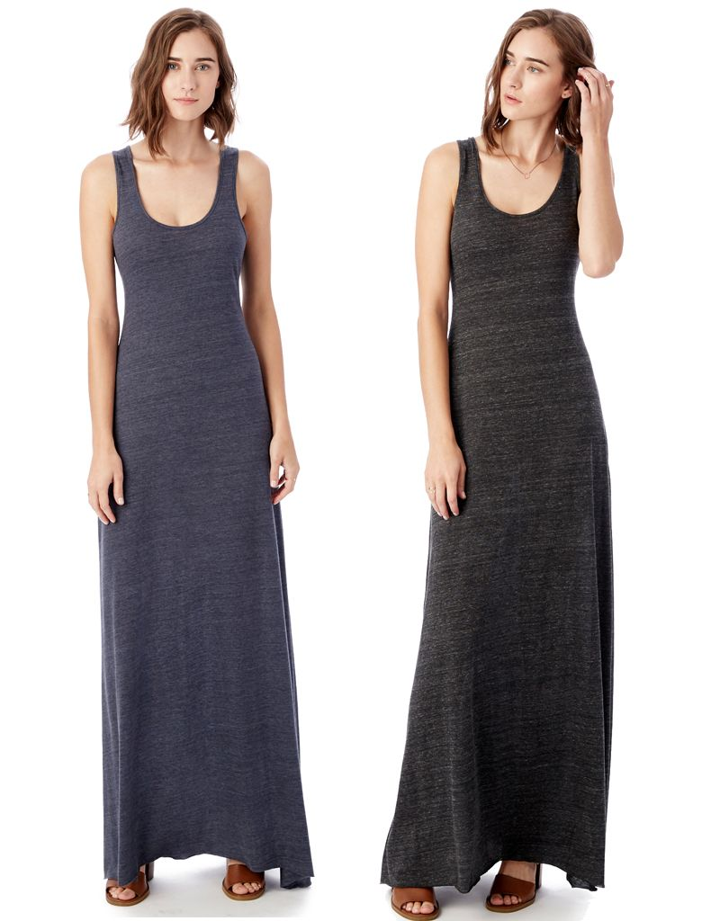 Alternative Apparel Double Scoop Eco-Jersey Tank Dress