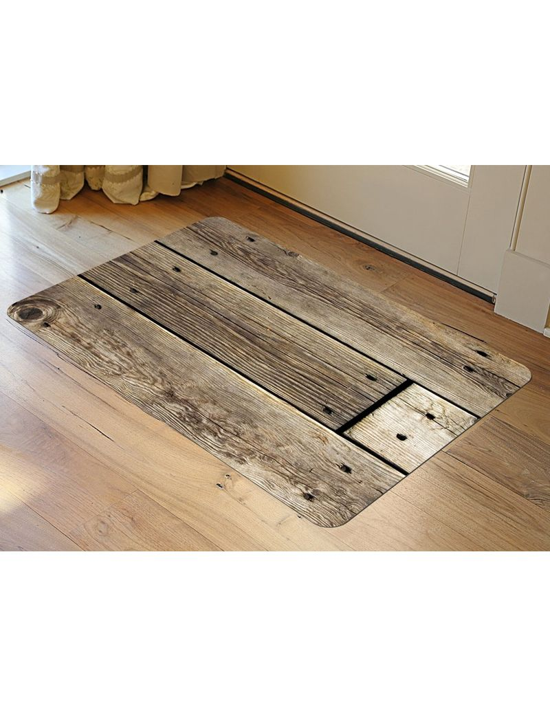 bungalow FoFlor 46 x 66 Accent Mat - Rustic Wood