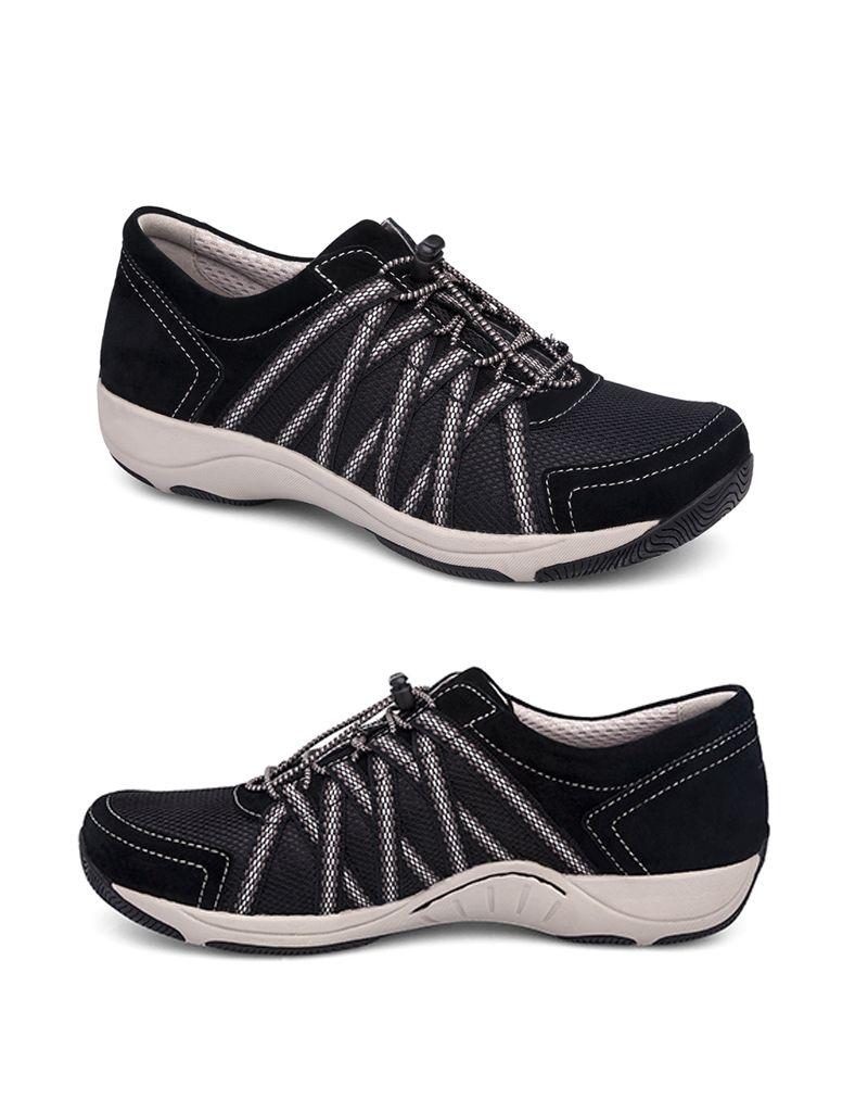 Dansko Dansko Honor Black Suede Sneaker