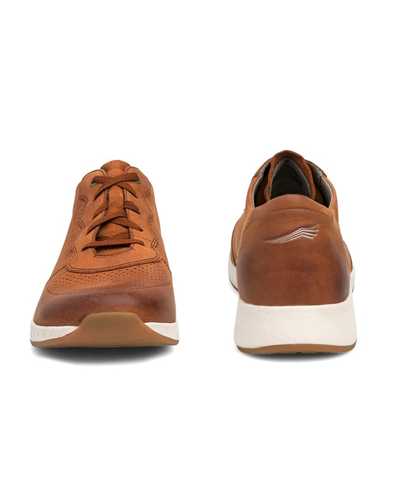 Dansko Christina Saddle Burnished Nubuck Leather Sneaker