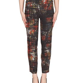Joseph Ribkoff Narrow Windowpane Print Pant