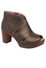 Dansko Delphina Peep Toe Ankle Boots Metallic Aged Bronze