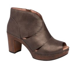 Dansko Dansko Delphina Peep Toe Ankle Boots Metallic Aged Bronze