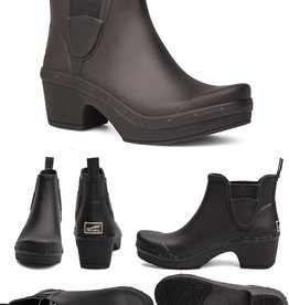 Dansko Rosa Black Rain Boots
