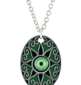 Earth Dreams Love Star Necklace, Silver/Green