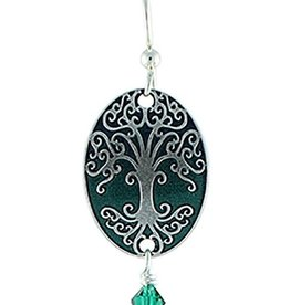 Earth Dreams As Above So Below Earrings, Silver/Green