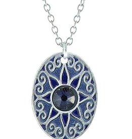 Earth Dreams Love Star Necklace, Silver/Blue