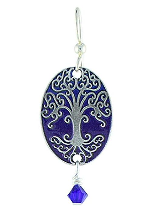 Earth Dreams As Above So Below Earrings, Silver/Blue