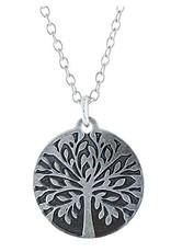 Earth Dreams Tree of Life Necklace, Silver/Grey