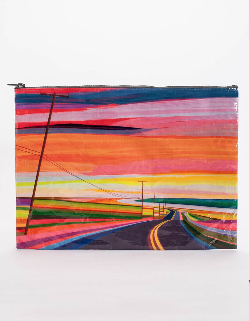 Blue Q Sunset Highway Jumbo Pouch