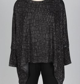 Nally & Millie Long Sleeve Printed Dolman Sleeve Top