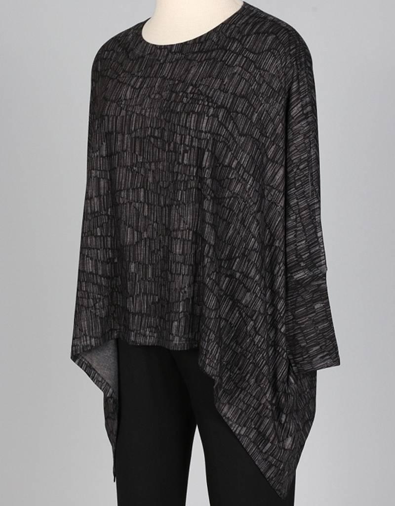 Nally & Millie Long Sleeve Printed Dolman Sleeve Top
