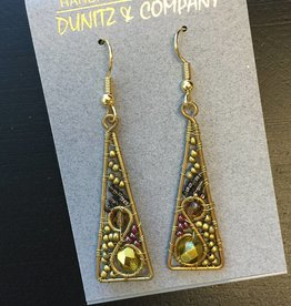 Dunitz & Company Small Wire Triangle Earrings