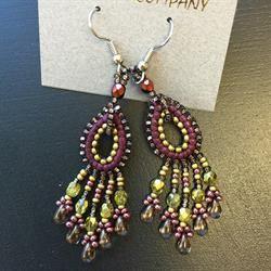 Dunitz & Company Double Teardrop Leather Earrings