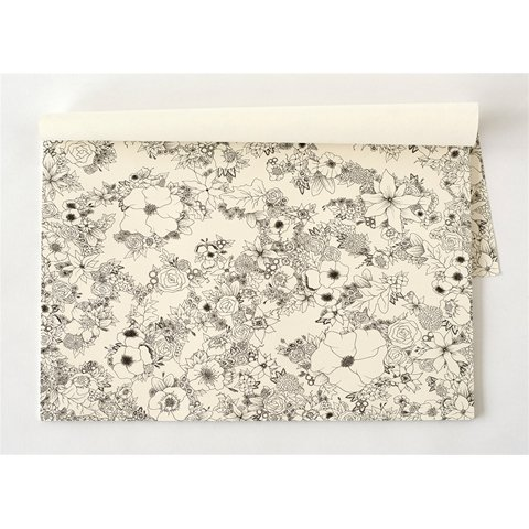 Hester & Cook floral coloring placemat/30 sheets