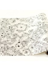 Hester & Cook floral coloring 20x25' table runner