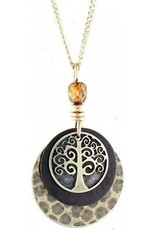 Earth Dreams Brass Tree of Life Necklace
