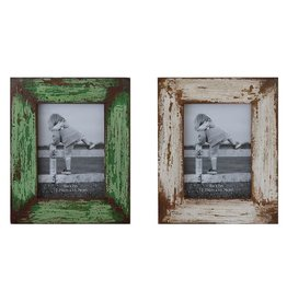 Creative Co-op 5x7 Distressed Wood Photo Frame