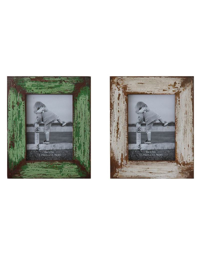 Creative Co-op 5x7 Distressed Wood Photo Frame