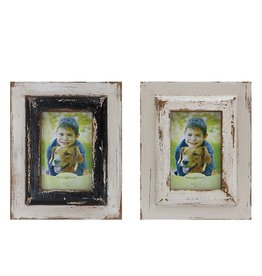 Creative Co-op 4x6 Distressed Wood Photo Frame