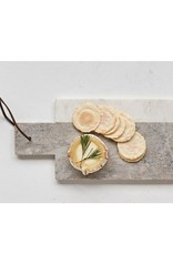"""Creative Co-op 12"""" L White Marble Cheese Board"""