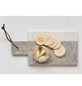 "Creative Co-op 12"" L White Marble Cheese Board"