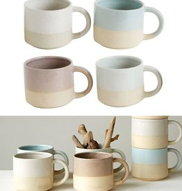 "Creative Co-op 3.5"" H Glazed/Matte Stoneware Mug"