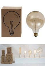 Creative Co-op Vintage Round Light Bulb (Amber, 40w)