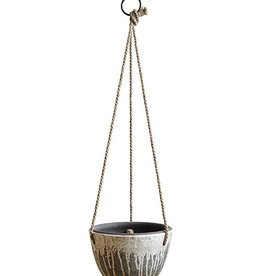 """Creative Co-op 8.5"""" RD Hanging Distressed Terra Cotta Planter"""