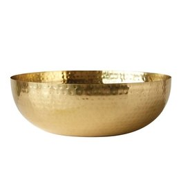 "Creative Co-op 14"" Round Brass Finish Bowl"