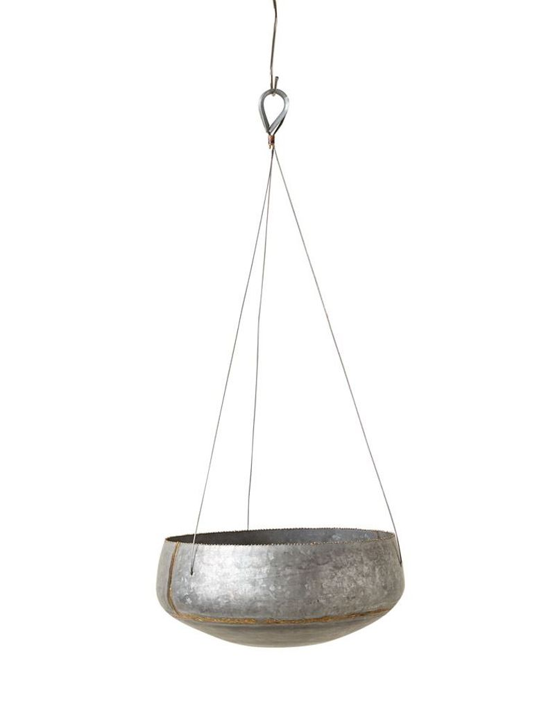 Creative Co-op Galvanized Iron Hanging Planter