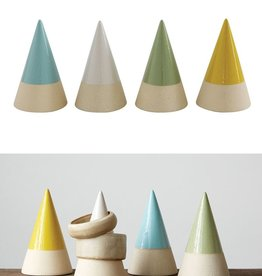 Creative Co-op Stoneware Cone Jewelry Holder