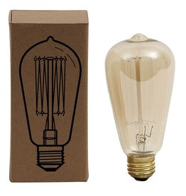 """Creative Co-op 5.5"""" Vintage Squirrel Cagefilament Light Bulb, Amber 40W"""
