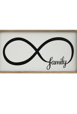 "Creative Co-op 24.375"" L MDF & Pine Infinity Family Wall Plaque"