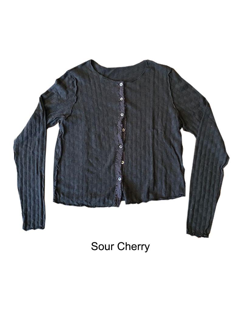 Cut Loose Checkerboard Crop Cardigan