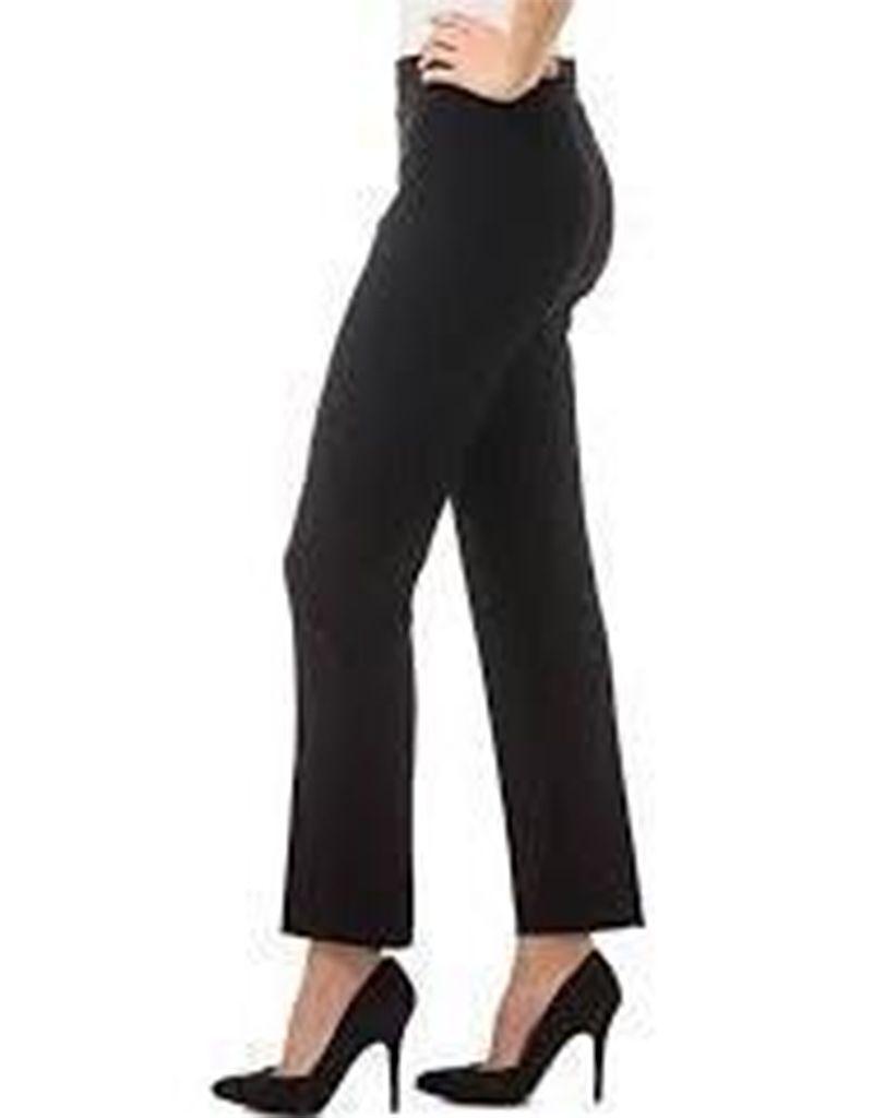 Joseph Ribkoff Joseph Ribkoff, Narrow pant, polyester Spandex blend. High elastic waist falls at the ankle.