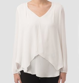 Joseph Ribkoff V-Neck Double Layer Blouse
