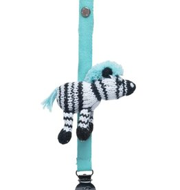 Finn & Emma Pacifier Holder (Daisy Zebra)