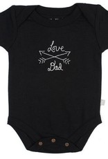 Finn & Emma I Love Daddy Onesie (Black Org. Cotton)