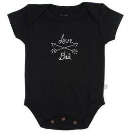Finn & Emma I Love Daddy Onesie (Black Org. Cotton)