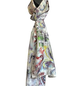 Tianello Happa Printed Silk Scarf