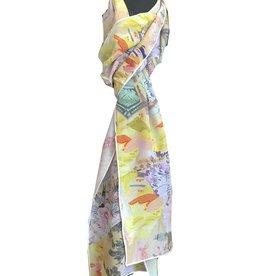 Tianello Yuko Print Silk Scarf