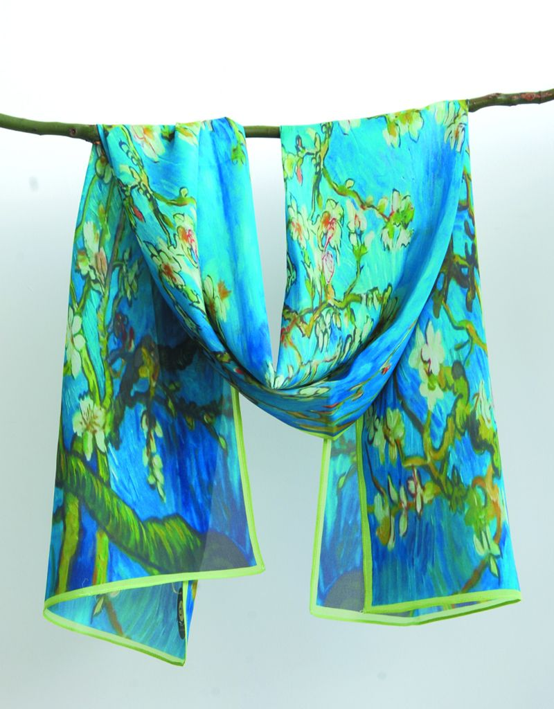 Cocoon House Silk Scarf- Almond Blossom