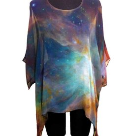 Cocoon House Handpainted Silk Hubble Tunic