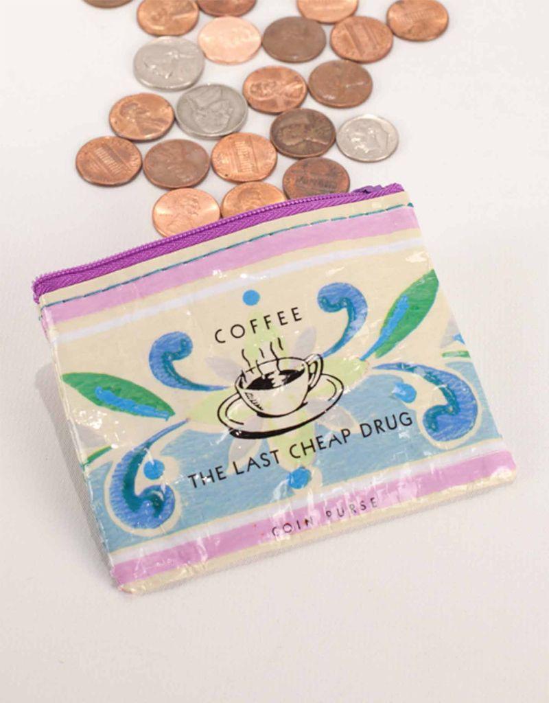 Blue Q Coffee Money Coin Purse