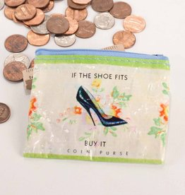 Blue Q Shoe Money Coin Purse