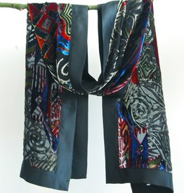 Cocoon House Silk Velvet Scarf - Intrigue
