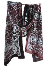 Cocoon House Silk Velvet Long Scarf - Water Wave