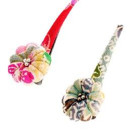 Annie Loto Studios Kimono Pumpkin Blossom Clip