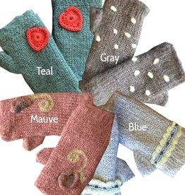 Nomvula's Knitters Fleece-Lined Mohair Mittens